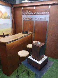 Tischbrunnen Corten-Stahl